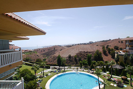 view from terrace apartment in reserva del higueron benalmadena
