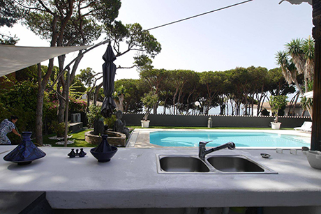 other pool view pic detached beachside villa in Cabopino