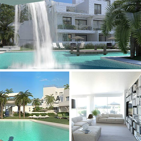 collage image of la cala penthouses and apartments new development