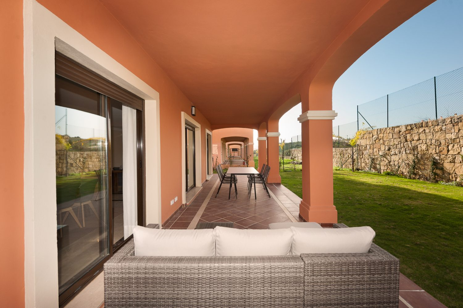 terrace space  new golf villas near Marbella